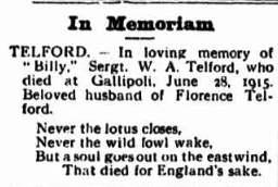 William Telford in Memorandum